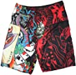 Men's Ed Hardy Swim Trunks Board Shorts Joker Red
