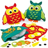 Owl Cushion Felt Sewing Kits for Children to Make Pack of 2