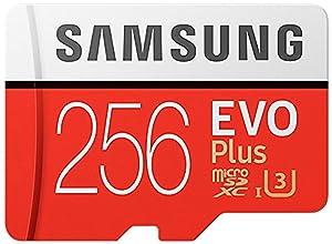 Samsung 256GB EVO Plus Class 10 UHS-I microSDXC U3 with Adapter (MB-MC256GA) (2 Pack) (Tamaño: 256GB MB-MC256GA/EU (2 Pack))