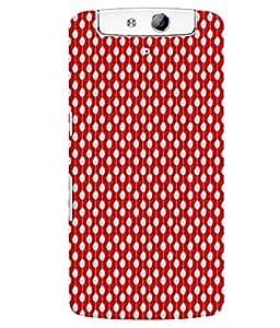 Fuson Premium I Love Red Printed Hard Plastic Back Case Cover for Oppo N1