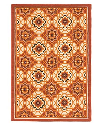 Tropicana Cream, Dark Copper Polypropylene Rug