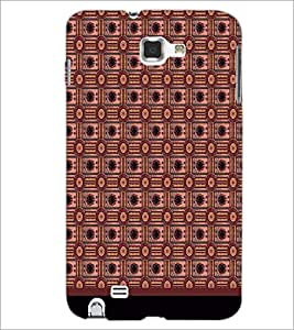 PrintDhaba Pattern D-1724 Back Case Cover for SAMSUNG GALAXY NOTE 1 (Multi-Coloured)