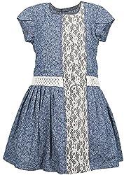 Euphoria Girls' Dress (SKU289F, Blue, 3-4 Years)