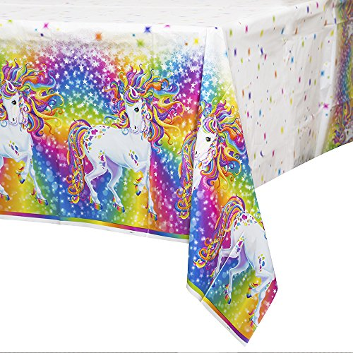 "Rainbow Majesty by Lisa Frank Plastic Tablecloth, 84"" x 54"""