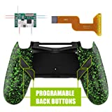 eXtremeRate Dawn Programable Remap Kit for PS4 Controller with Mod Chip & Redesigned Back Shell & 4 Back Buttons - Compatible with JDM-040/050/055 - Textured Green (Color: Textured Green)