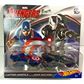 Hot Wheels Marvel Avengers Age Of Ultron Captain America & War Machine Die-Cast Collectible Cars 1:6