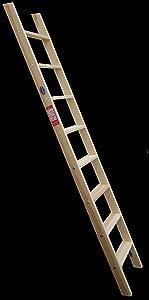 Premium Hochbettleiter Holz 14stufig als Stufenanlegeleiter formschön für senkrechte Höhe von 3,15 m  BaumarktKundenbewertung und Beschreibung