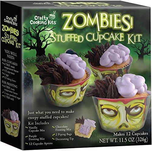 Halloween Zombie Stuffed Cupcake Mix Kit (Cupcake Decorating Halloween Tip)