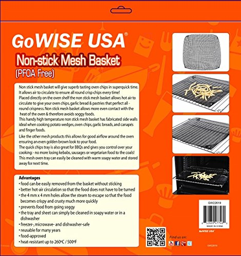 Ming 39 s mark gw22619 reusable oven mesh basket food for Gowise usa