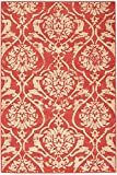 "Caterina Area Outdoor Area Rug, 5'3""x7'6"", CORAL"