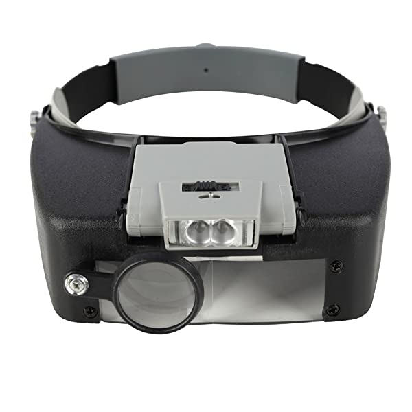 Beileshi Head Magnifier LED Illuminated Multi-Power Helmet Magnifying 1.5X 3X 8.5X 10x Magnifying Tools for Watch Repair, Arts & Crafts or As General Reading Aid (Color: 1.5x-3.5x Led Magnifying)