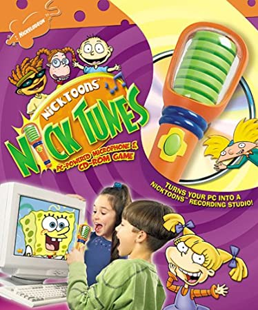 Nicktoons Nick Tunes Microphone and CD-ROM Game