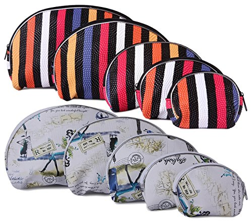 UberLyfe Bold and Beautiful Multipurpose Pouch or Purse for Women - Set of 10