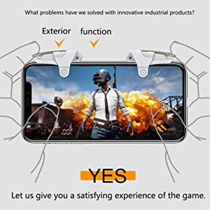 MIWORM Mobile Controller - Mobile Game Controller, Cellphone Game Trigger, Battle Royale Sensitive Shoot and Aim Gift for Kids (Mobile Game Controller E) (Color: Mobile Game Controller E)
