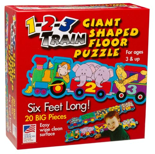 Cheap Fun Great American Puzzle Factory 1-2-3 Train Giant Shaped Floor Puzzle (B000096R7W)