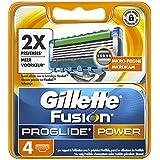 Gillette Fusion Proglide Power Lames de Rasoir, Pack de 4 lames de Rasoir