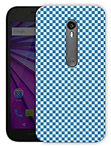 """Humor Gang Checkered Life Chess Board Blue Printed Designer Mobile Back Cover For """"Motorola Moto X Style"""" (3D, Matte, Premium Quality Snap On Case)"""