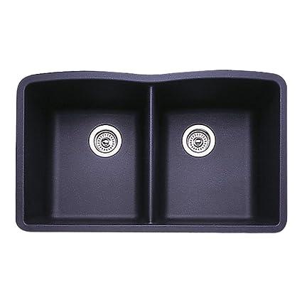 Blanco 511-702 Diamond Equal Double Bowl Kitchen Sink, Anthracite Finish