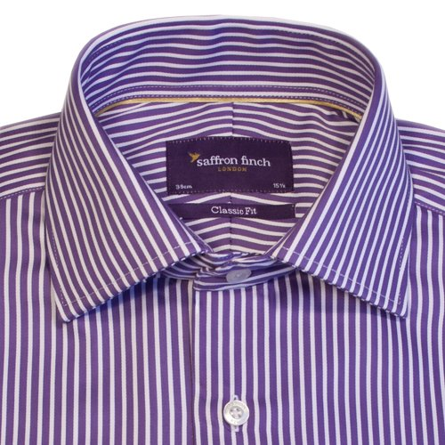 Saffron Finch - Mayfair Soft Blue - Classic fit - Men's Formal Shirt (15)