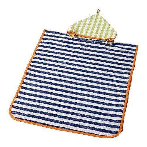ikea-slappa-handtuch-mit-kapuze-dunkelblau-grun-60x62-cm