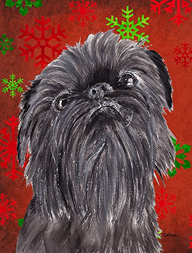 Brussels Griffon Red Snowflake Christmas Flag Garden Size From Caroline'S Treasures front-96962