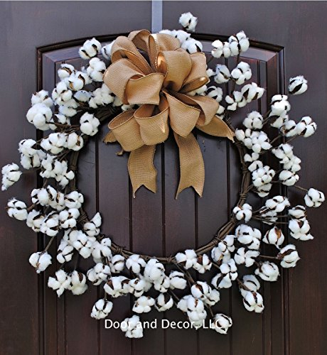 Faux Cotton Wreath~cotton boll wreath~cotton wreath~door wreath~mirror wreath~cotton decor-rustic wreath~farmhouse decor~fixer upper~faux cotton wreath