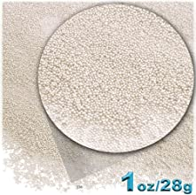1oz  28g Plastic Microbeads  Nohole 06mm Opaque Ivory Peal