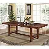 New 8 Foot Dark Oak Wood Dining Table-New in the Box