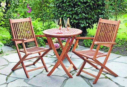 MERXX Gartenmöbel-Set 3-teilig aus Massivholz mit 2 Klappsesseln günstig