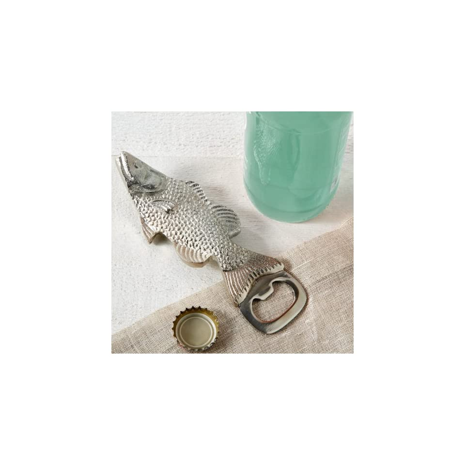 Silver Fish Bottle Opener By Twos Company