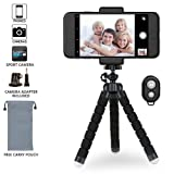 Phone Tripod,Flexible Tripod with Wireless Remote Shutter for iPhone & Android,Mini Tripod for Camera and GoPro
