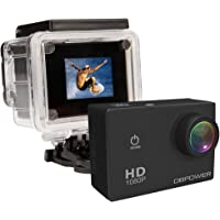 DBPower 12MP Full HD 1080p Waterproof Action Camera with 2 Batteries and Accessories Kit (Black)