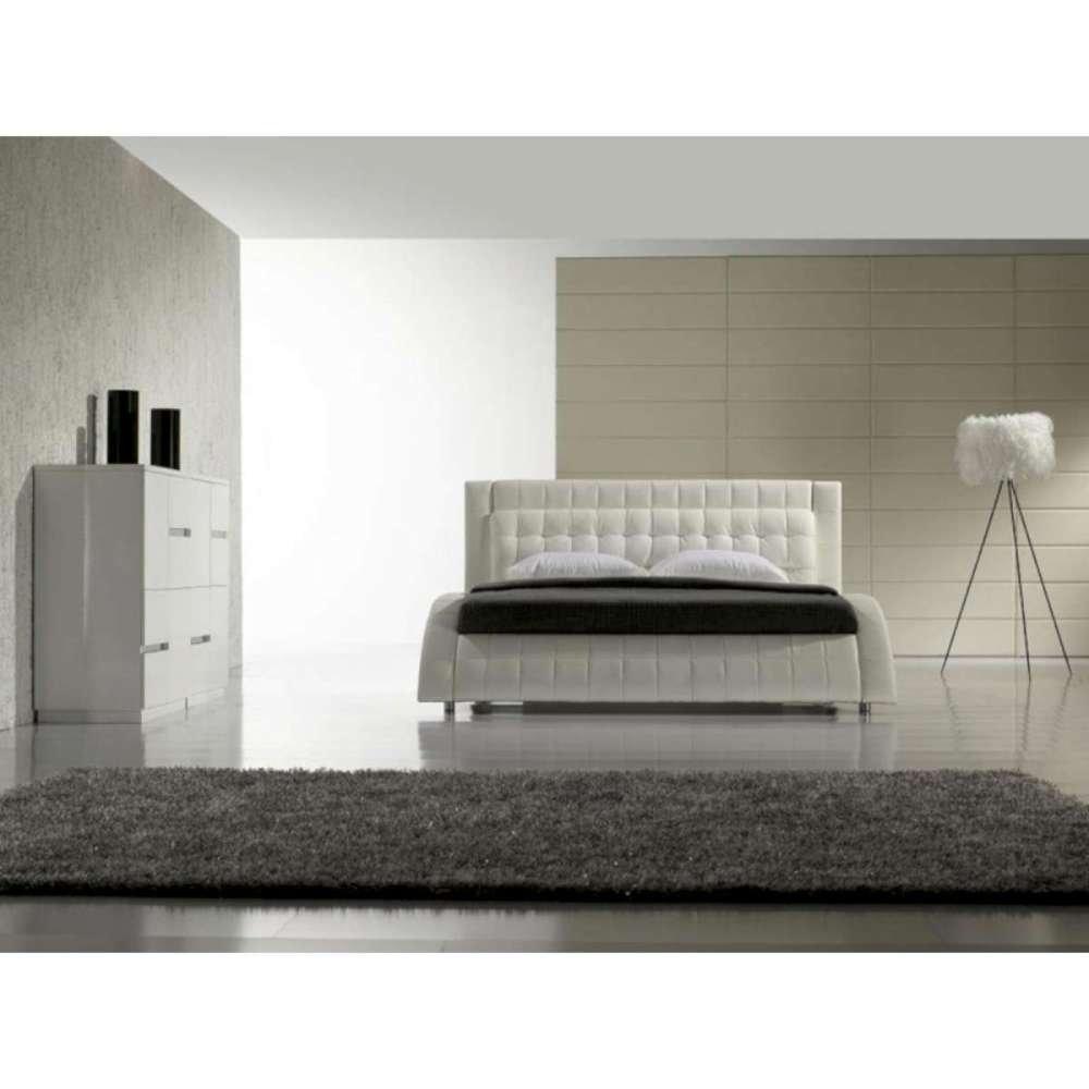 JUSThome Modum Weiß Polsterbett Ekoleder Größe 140×200 cm jetzt kaufen