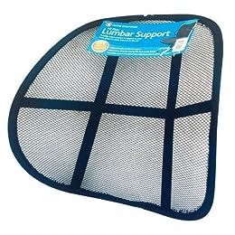 Guilty Gadgets Support lombaire ergonomique en maille pour siège auto/fauteuil de bureau/maison
