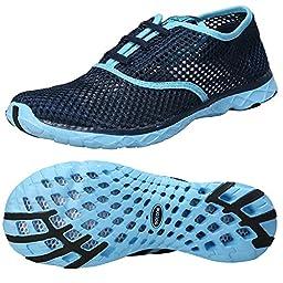 Zhuanglin Women\'s Mesh Slip On Water Shoes Size 7 B(M) US Blue