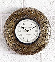 Swagger Coin Wall clock / unique wall clock / Brass wall clock / vintage clock
