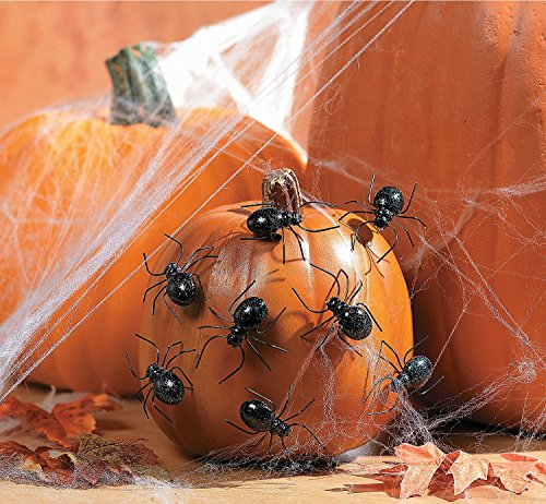 Halloween Spider Pumpkin Push-Ins Pack of 12