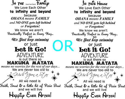 In the (insert your last name) Family Happily Ever After Wall Decal, in this house type, Walls with Style (Black)