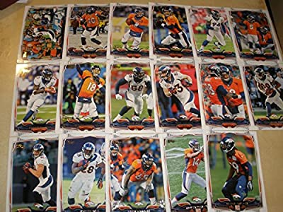 2014 Topps Denver Broncos 17 Card Complete Team Set Shipped in an Acrylic Case - Includes: Julius Thomas, Emmanuel Sanders, Peyton Manning, Peyton Manning, Demarcus Ware, Matt Prater, Ronnie Hillman, Peyton Manning, Von Miller, Wes Welker, Denver Broncos,