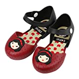 iFANS Girls Princess Jelly Shoes Toddler Kids Mary Jane Flats Red (Color: Red, Tamaño: USA 13 (EUR29))
