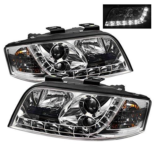Spyder Drl Led Chrome Projector Headlights Audi A6 02-04
