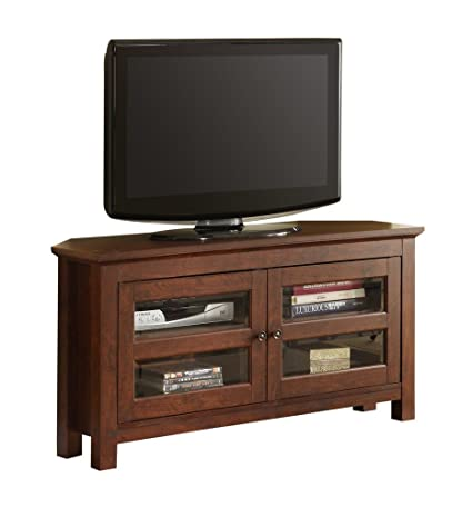 "Walker Edison 44"" Cordoba Wood TV Console, Brown"