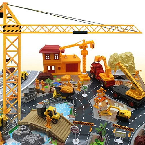 200 Pieces Construction Site Worker Building Model Pretend Play Kids Gifts Educational Toys Set (Mini Toy Construction Cones compare prices)