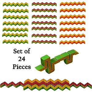 Set of 24 Mini Magic Snakes Assorted colors.