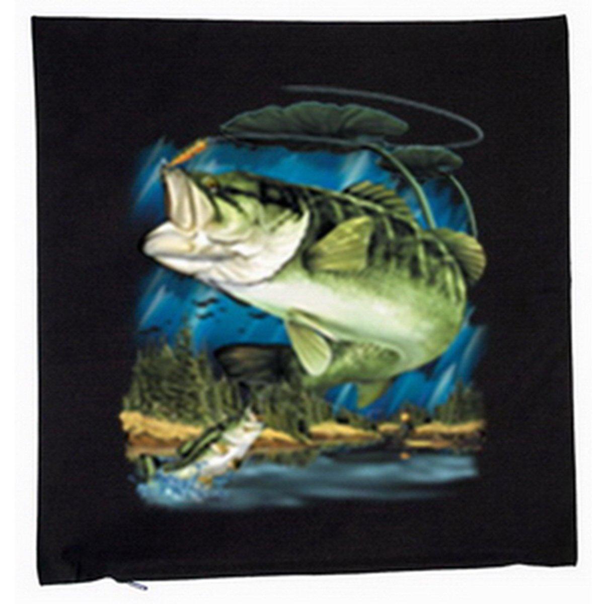 Angeln Fischen Zander Deko Kissen mit Füllung Farbe: schwarz Größe: 40x40cm günstig kaufen