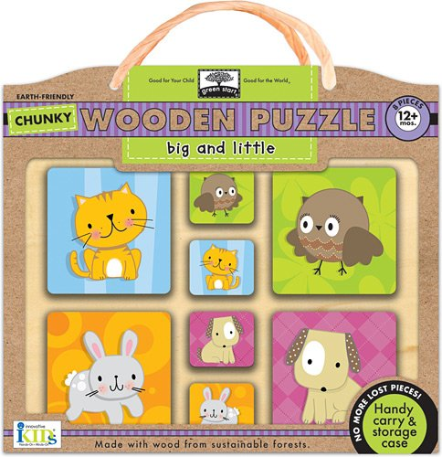 Innovative Kids Green Start Chunky Wooden Puzzles: Big And Little Puzzle
