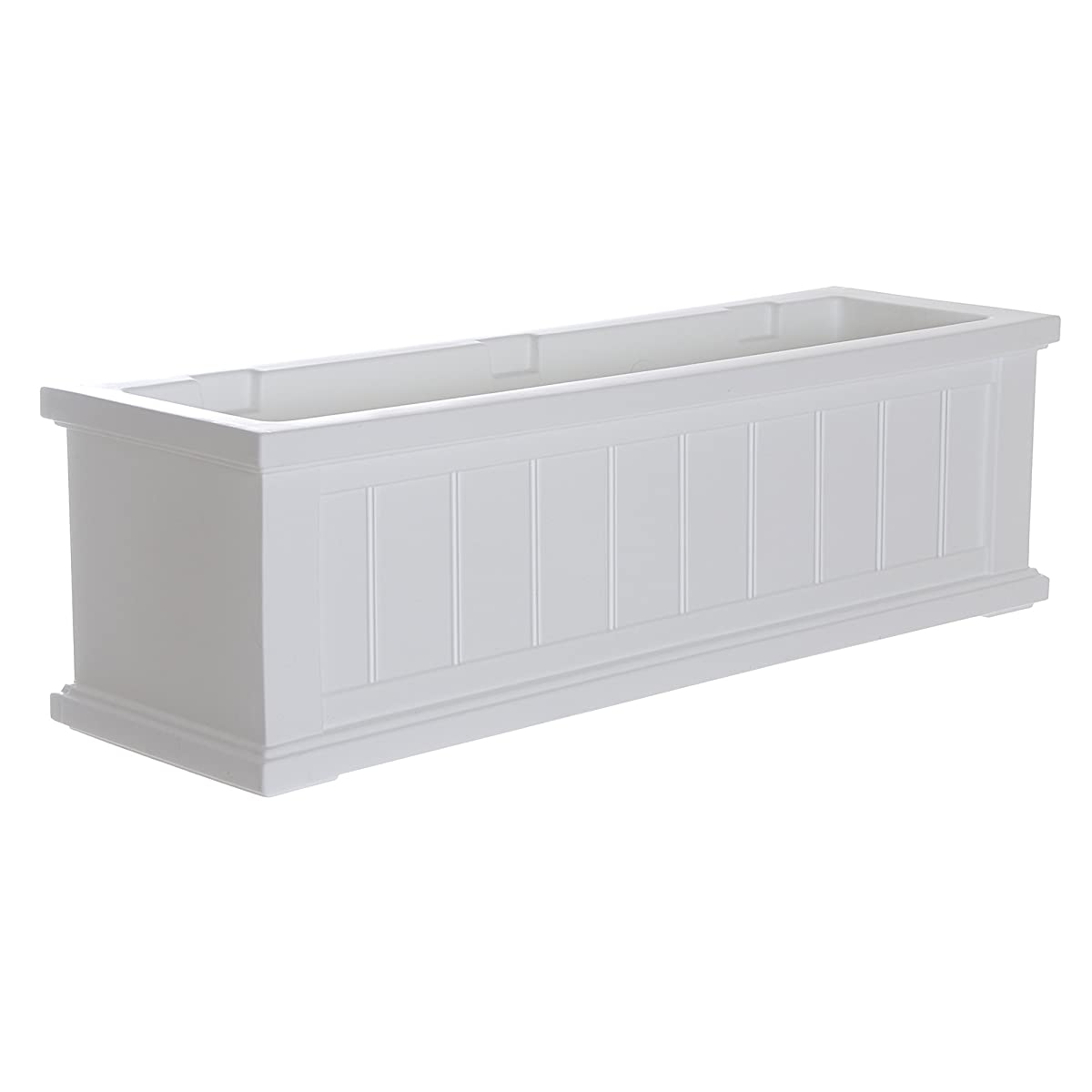 Mayne 4840-W Cape Cod Polyethylene Window Box, 3 , White