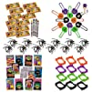 60 Piece Mega Halloween Toy Novelty Assortment; 12 Halloween Disc Shooters, 12 Halloween Crayons, 12…