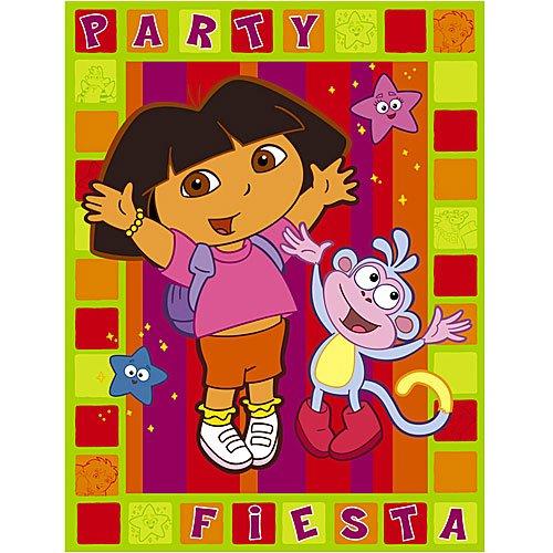 Dora Birthday Invitations and Thank You Cards - 1