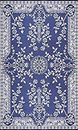 Mad Mats® Garland Indoor/Outdoor Floor Mat, 5 by 8-Feet, Blue and White